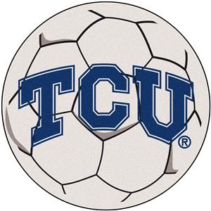 Fan Mats Texas Christian Univ. Soccer Ball Mat