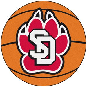 Fan Mats University of South Dakota Basketball Mat