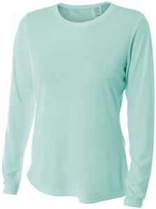 A4 Womens LS Cooling Performance Crew Shirt