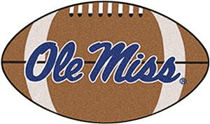 Fan Mats University of Mississippi Football Mat