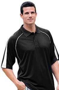 Willow Pointe Men's Cool Mesh Polos with Piping