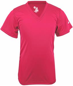 Badger Sport B-Core Girls Short Sleeve V-neck Tee