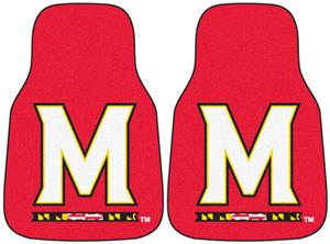 Fan Mats Univ. of Maryland Carpet Car Mats (set)