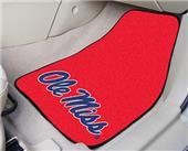 Fan Mats Univ of Mississippi Carpet Car Mats (set)