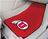 Fan Mats University of Utah Carpet Car Mats (set)
