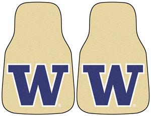 Fan Mats NCAA Washington Carpet Car Mats (set)