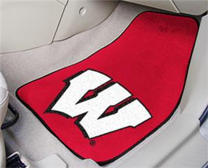 Fan Mats Univ of Wisconsin Carpet Car Mats (set)