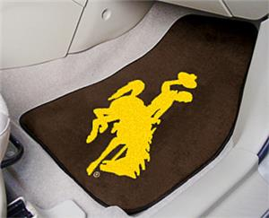 Fan Mats Univ of Wyoming Carpet Car Mats (set)