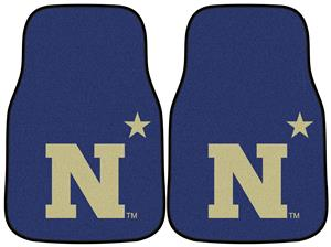 Fan Mats US Naval Academy Carpet Car Mats (set)