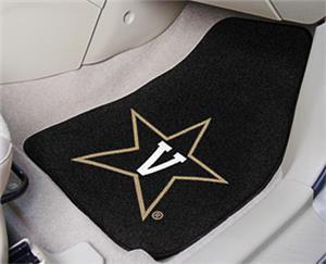 Fan Mats Vanderbilt Univ Carpet Car Mats (set)