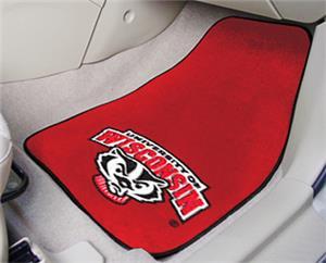 Fan Mats Univ of Wisconsin Carpet Car Mats (set)