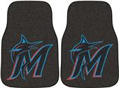Fan Mats Miami Marlins Carpet Car Mats (set)