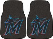 Fan Mats Miami Marlins Carpet Car Mats (set)
