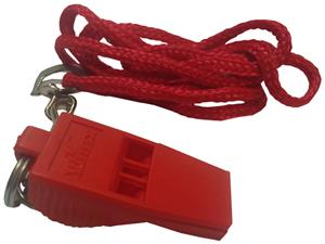 Pea-less Whistle &amp; Matching Lanyard (in 3-Colors)