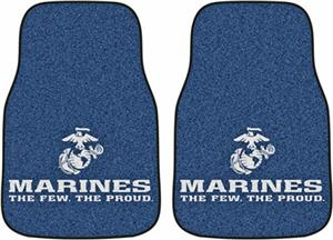 Fan Mats United States Marines Carpet Car Mat