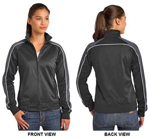 Sport-Tek Ladies Piped Tricot Track Jacket