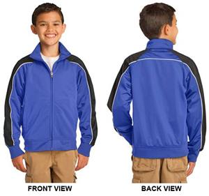 Sport-Tek Youth Piped Tricot Track Jacket