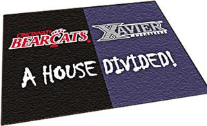 Fan Mats Cincinnati / Xavier House Divided Mat