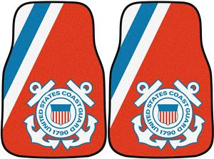 Fan Mats United States Coast Guard Carpet Car Mat