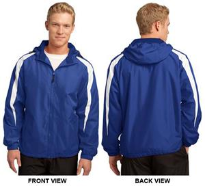 Sport-Tek Mens Fleece-Lined Colorblock Jacket