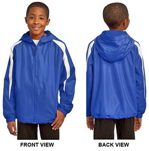 Sport-Tek Youth Fleece-Lined Colorblock Jacket