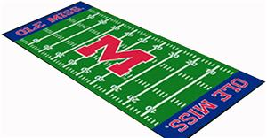 Fan Mats University of Mississippi Football Runner