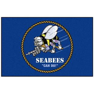 Fan Mats Navy Seabees Starter Mat
