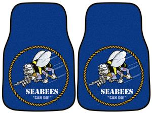 Fan Mats Navy Seabees Carpet Car Mat