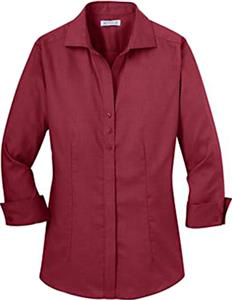 Red House Ladies 3/4 Sleeve Button-Down Shirts