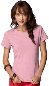 Anvil Pink Breast Cancer Women's Missy Fit Tees