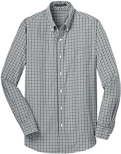 Port Authority Mens Gingham Easy Care Shirt