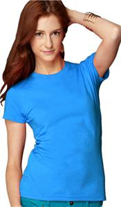 Anvil Women's Junior Fit Fashion Crewneck T-Shirts