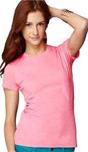 Anvil Pink Women's Junior Fit Fashion T-Shirts