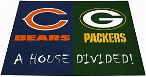 Fan Mats Bears / Packers House Divided Mat