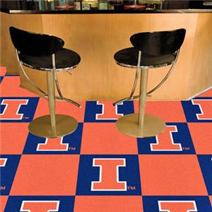 Fan Mats University of Illinois Team Carpet Tiles