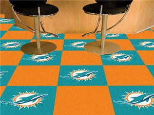 Fan Mats Miami Dolphins Team Carpet Tiles