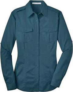 Port Authority Ladies Stain-Resistant Twill Shirt