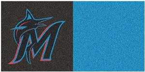 Fan Mats Miami Marlins Team Carpet Tiles