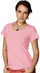 Anvil Pink Women's Sheer Scoop Neck T-Shirts