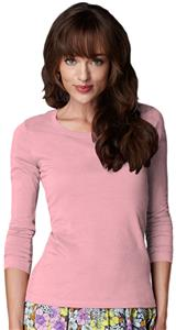 Anvil Pink Women's Long Sleeve Scoop Neck T-Shirts