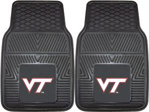 Fan Mats Virginia Tech 2-Piece Car Mat