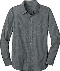 District Made Men Long Sleeve Washed Woven Shirt