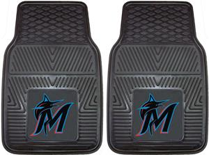 Fan Mats Miami Marlins 2-Piece Car Mat