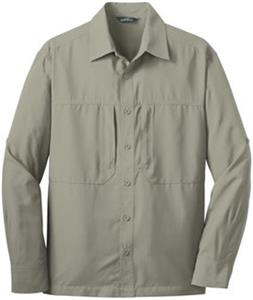 Eddie Bauer Mens LS Performance Travel Shirt