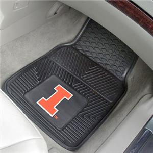 Fan Mats University of Illinois 2-Piece Car Mat