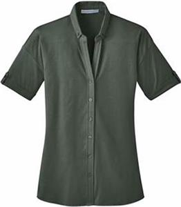 Port Authority Ladies Stretch Pique Button Shirt