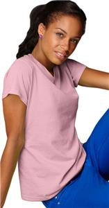 Anvil Pink Women's Heavyweight V-Neck T-Shirts