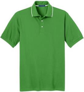 Port Authority Mens Rapid Dry Tipped Polo