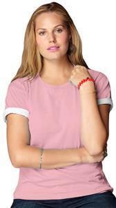 Anvil Pink Women's Heavyweight Scoop Neck T-Shirts