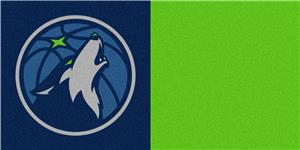 Fan Mats Minnesota Timberwolves Team Carpet Tiles